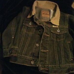 Kids black denim jacket - LEVI STRAUSS sz18 month